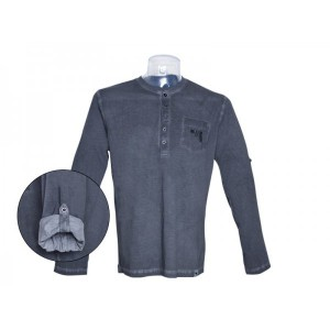 Tshirt Henley manches longues Homme - Glock