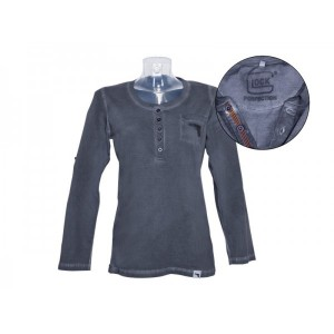 Tshirt Henley manches longues Femme - Glock